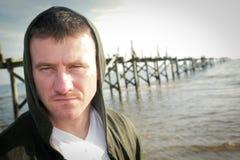 Hombre encapuchado Fotos de archivo libres de regalías