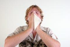 Hombre enfermo. Imagenes de archivo