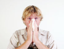 Hombre enfermo. Fotos de archivo libres de regalías