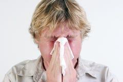 Hombre enfermo. Foto de archivo