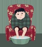Hombre enfermo Imagen de archivo libre de regalías