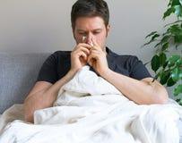 Hombre enfermo Foto de archivo