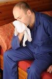 Hombre enfermo Foto de archivo libre de regalías