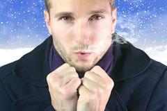 Hombre enfriado Fotografía de archivo