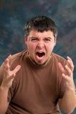 Hombre enfurecido imagen de archivo