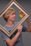 Hombre, engañando alrededor, diversión Foto de archivo libre de regalías