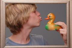 Hombre, engañando alrededor, diversión Imagen de archivo libre de regalías