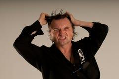 Hombre enojado Foto de archivo libre de regalías