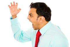 Hombre enojado Fotos de archivo