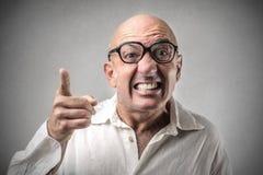 Hombre enojado Imágenes de archivo libres de regalías