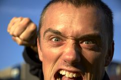 Hombre enojado Imagenes de archivo