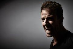 Hombre enojado fotografía de archivo
