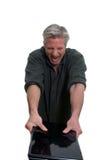 Hombre enojado con la computadora portátil Imagen de archivo libre de regalías