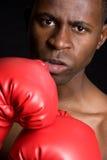 Hombre enojado del boxeo foto de archivo libre de regalías
