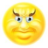 Hombre enojado del Emoticon de Emoji Foto de archivo libre de regalías