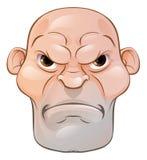 Hombre enojado malo de la historieta Imagen de archivo libre de regalías