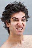 Hombre enojado que grita Imágenes de archivo libres de regalías