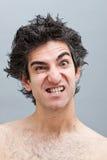 Hombre enojado que grita Foto de archivo libre de regalías