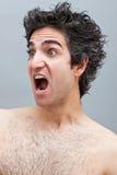 Hombre enojado que grita Fotografía de archivo libre de regalías