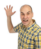 Hombre enojado que grita imagen de archivo