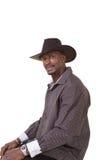 Hombre envejecido centro que lleva un sombrero de vaquero fotos de archivo