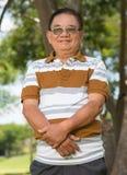 Hombre envejecido feliz imagen de archivo libre de regalías