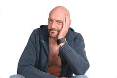 Hombre envejecido medio atractivo foto de archivo libre de regalías
