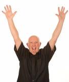 Hombre envejecido medio feliz Fotografía de archivo
