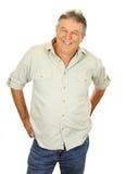 Hombre envejecido medio ocasional Foto de archivo libre de regalías