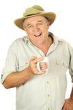 Hombre envejecido medio ocasional imagen de archivo