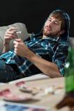 Hombre enviciado a las drogas Fotos de archivo libres de regalías