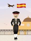 Hombre español ilustración del vector