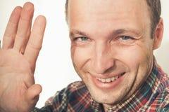Hombre europeo adulto joven amistoso Fotos de archivo libres de regalías