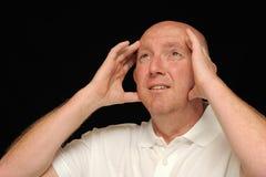 Hombre exasperado Foto de archivo libre de regalías
