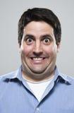 Hombre excesivamente emocionado Foto de archivo