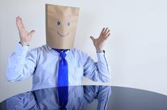 Hombre feliz anónimo Imagen de archivo libre de regalías
