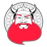 Hombre feliz de Vikingo stock de ilustración