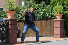 Hombre feliz del afroamericano Imagen de archivo libre de regalías