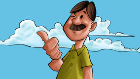 Hombre feliz del bigote libre illustration
