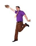 Hombre feliz joven en desgaste brillante del color imagen de archivo libre de regalías