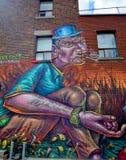 Hombre fresco de Montreal del arte de la calle fotos de archivo libres de regalías