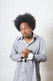 Hombre fresco del afroamericano Foto de archivo