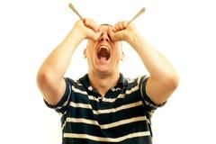 Hombre frustrado Foto de archivo