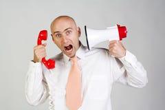 Hombre frustrado Imagen de archivo libre de regalías