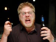 Hombre frustrado enojado Imagen de archivo libre de regalías