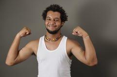 Hombre fuerte del latino Fotos de archivo libres de regalías
