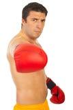 Hombre furioso del boxeador foto de archivo libre de regalías