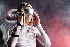 Hombre futurista Imagen de archivo libre de regalías