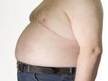 Hombre gordo imagen de archivo libre de regalías