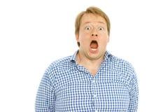 Hombre gordo chocado Foto de archivo libre de regalías